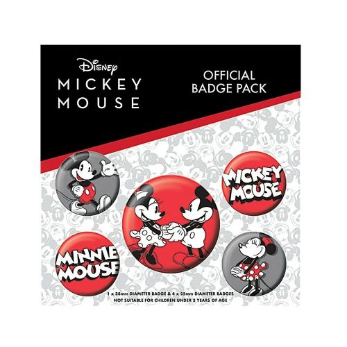 Disney Mickey Mouse Classic Button Badge Pack